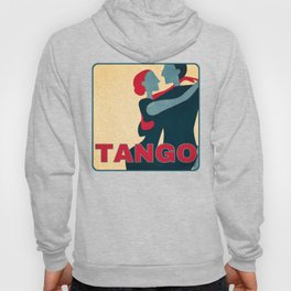 Tango Couple in Red, Blue and Gold Pop Art Hoody