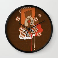 chocolate Wall Clocks featuring chocolate by Disnois