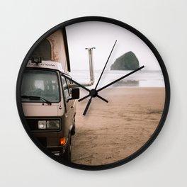 Cape Kiwanda Beach Westfalia Wall Clock