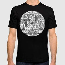 Legend of Zelda - The Three Goddesses of Hyrule Geek Line Artly T-shirt