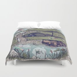 Spirited among the Dragonflies Duvet Cover
