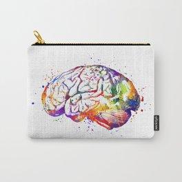 Brain Art Human Brain Anatomy Art Brain Watercolor Anatomy Decor Anatomical Brain Medical Art Carry-All Pouch