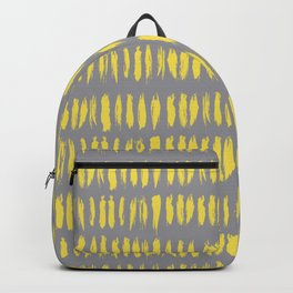 Bold Grunge Vertical Stripe Pattern 2 V2 Pantone 2021 Color Of The Year Illuminating Ultimate Gray Backpack
