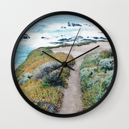 The Path to the Ocean Wall Clock