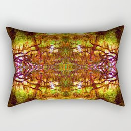 Tree of Life Abstract Rectangular Pillow