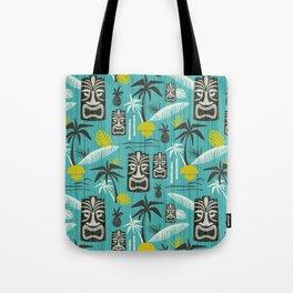 Island Tiki Aqua Tote Bag
