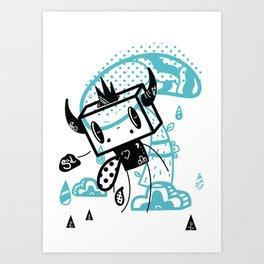 Sad Ol' Boxhead Art Print