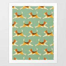 Beagle Pattern Art Print