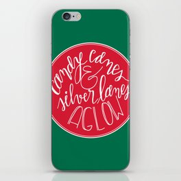 Candy Canes and Silver Lanes iPhone Skin
