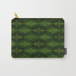 Ethnic Tribal Pattern on green Carry-All Pouch