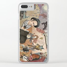 Tom Waits' Melodramatic Nocturnal Scene Clear iPhone Case