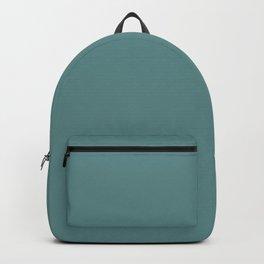 Steel Teal - solid color Backpack