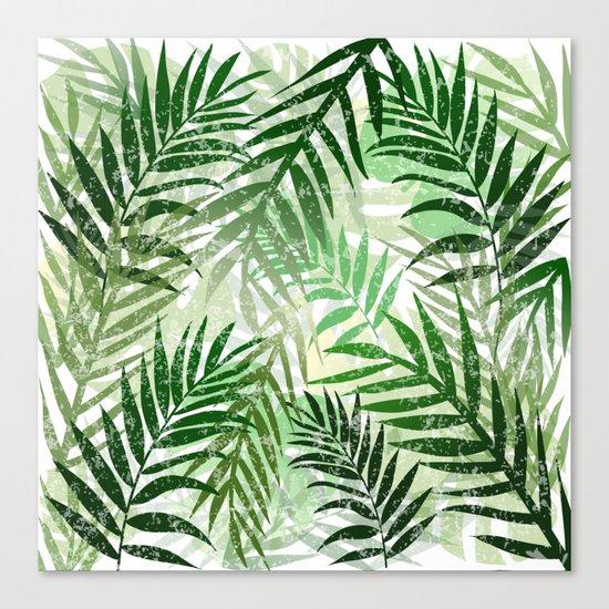 Tropical Green leaves Canvas Print