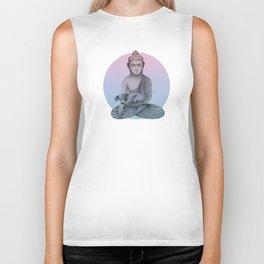 Buddha with dog1 Biker Tank