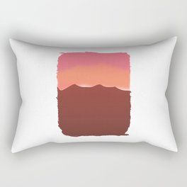 Pink Mountain Sunset for Hikers and Backpackers Rectangular Pillow