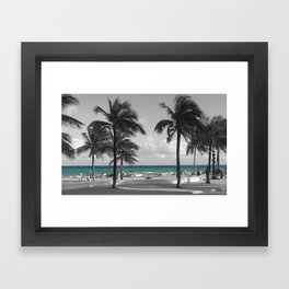 Miami Beach Florida Ocean photography Framed Art Print