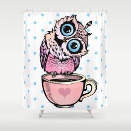 Baby Owl Shower Curtain