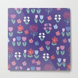 Drawing of spring flowers Metal Print