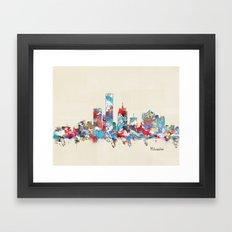 Milwaukee Wisconsin skyline Framed Art Print