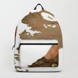 I'm All Ears - Cute Calico Cat Portrait Backpack