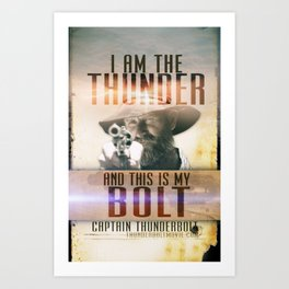 Thunderbolt Movie-I Am The Thunder Version 2 Art Print