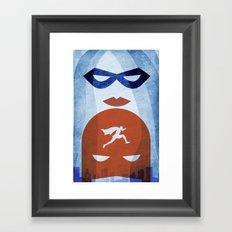 Nightly patrol Superheroes SF Framed Art Print