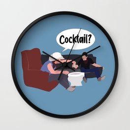 Cocktail? Wall Clock