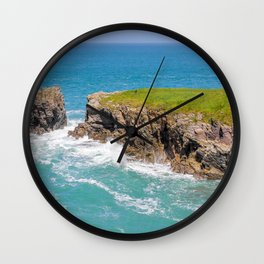 Port Gaverne - Castle Rock Bench Wall Clock