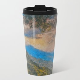 Distant Mountains Impressionistic Travel Mug