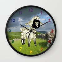 lamb Wall Clocks featuring Lamb by Knot Your World