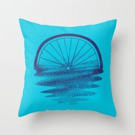 Blue Sunset Mystery Throw Pillow