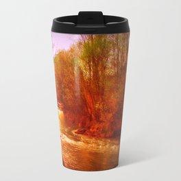 on the river Travel Mug