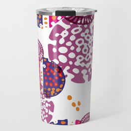 Micro pink and ultra violet composition Travel Mug
