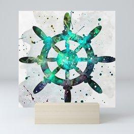 The Captains Wheel Mini Art Print