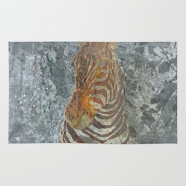 Taxidermy zebra head Rug