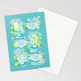 Retro Cocktail Recipes Stationery Cards