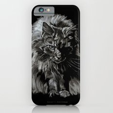Who's for Dinner? Big Black & White Main Coon Cat Slim Case iPhone 6s