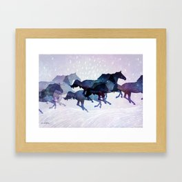 Run dear run Framed Art Print