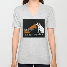 Retro his master's voice, Nipper the Dog Unisex V-Neck