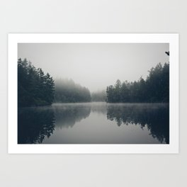 Lake + Fog Art Print