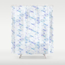 Ghost Town (Ice Jam) Shower Curtain