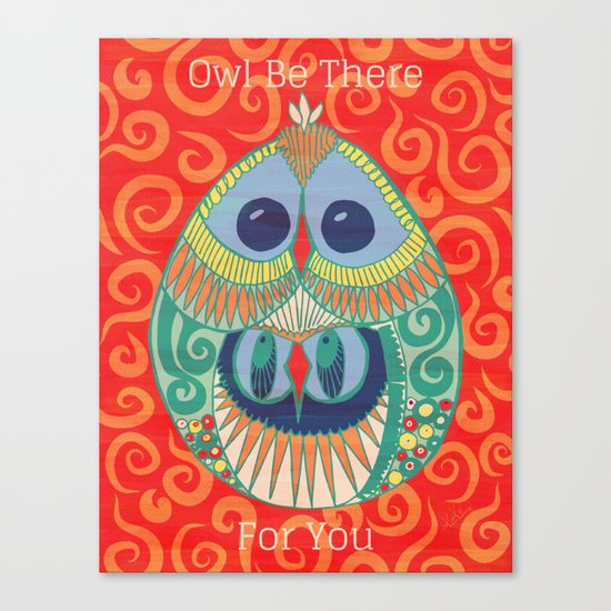 Owl Be There For You Canvas Print