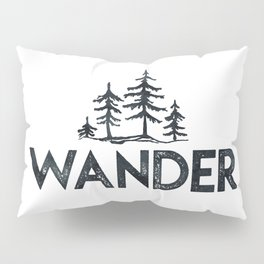 WANDER Forest Trees Black and White Pillow Sham