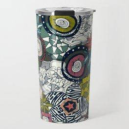 succulents multi dark Travel Mug