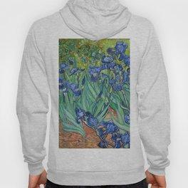 Irises, Vincent Van Gogh Hoody