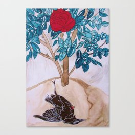 The Nightingale and the Rose, Oscar Wilde Canvas Print
