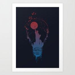 Big city lights II (dark) Art Print