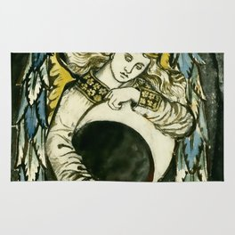 "William Morris ""Night: Angel Holding a Waning Moon"" Rug"