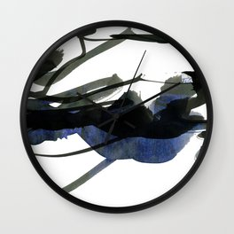 gestural abstraction Wall Clock