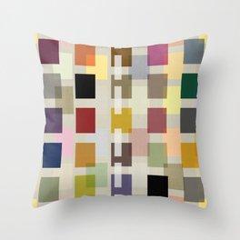 MID-CENTURY COLOR BLOCK LINEN Throw Pillow